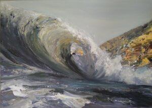Jurassic coastline waves by Francine Davies