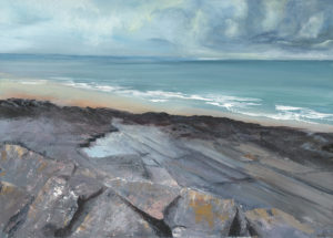 Francine Davies Art: Jurassic plates at Ogmore by Sea, South Wales
