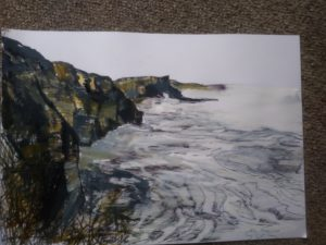 Sketches of Dunraven Bay, Southrndown by Francine Davies Art