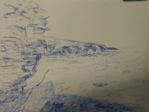 Sketches of Southerndown Beach by Francine Davies Art