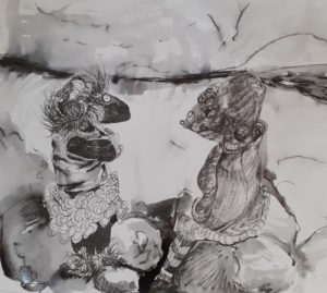 Francine Davies Art and The Ogs: Grannie Annie and Eleanor chat about the fossils