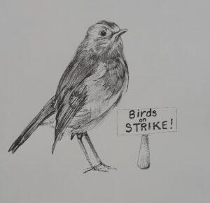Birds on Strike!: francinedavies.art, World of Ogs
