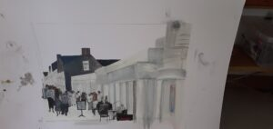 preliminary sketches of the Grand Pavilion, Porthcawl